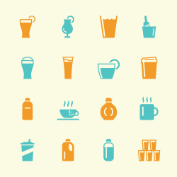 Beverage Icons Set 4 - Color Series