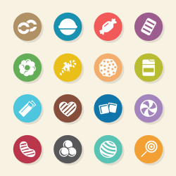 Candy Icons Set 4 - Color Circle Series