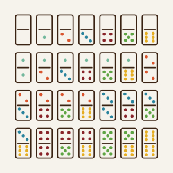 Dominoes Icons Set 1 - Color Series