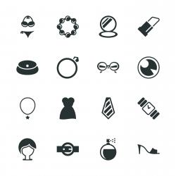 Fashion Silhouette Icons