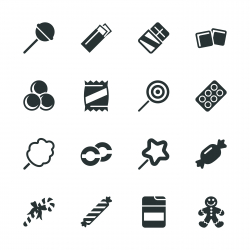 Candy Silhouette Icons
