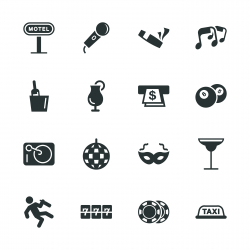 Nightlife Silhouette Icons