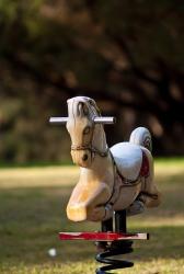 White Rocking horse