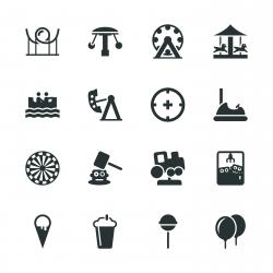 Theme Park Silhouette Icons