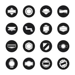 Label Icons Set 1 - Black Circle Series