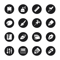Creative Icons - Black Circle Series