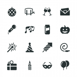 Celebration Silhouette Icons