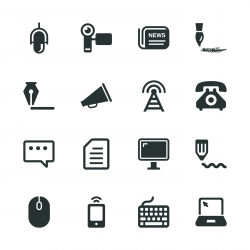 Communication Silhouette Icons | Set 2