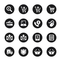 E-commerce Icons - Black Circle Series