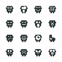 Silhouette Emoticons | Set 6