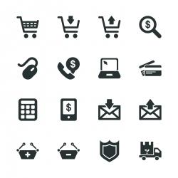 E-commerce Silhouette Icons