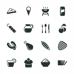Eating Silhouette Icons | Set 3