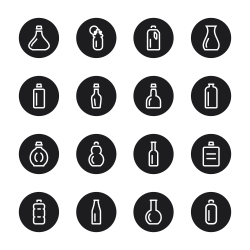 Bottle Icons Set 1 - Black Circle Series