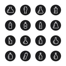 Bottle Icons Set 2 - Black Circle Series