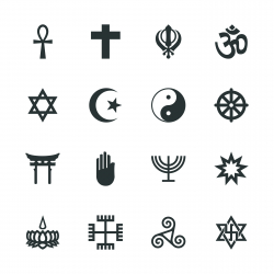 Religion Silhouette Icons