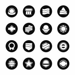 Label Icons Set 4 - Black Circle Series