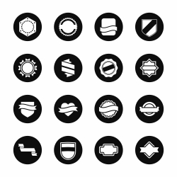 Label Icons Set 5 - Black Circle Series