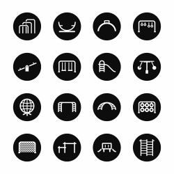 Playground Icons Set 2 - Black Circle Series
