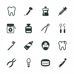 Dental Silhouette Icons