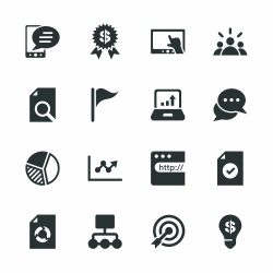 Marketing Silhouette Icons