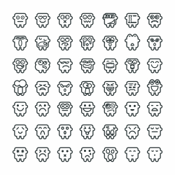 Silhouette Emoticons 49 icons
