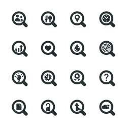 Search Engine Silhouette Icons | Set 2