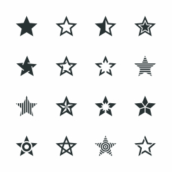 Star Shape Silhouette Icons