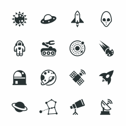 Space Silhouette Icons