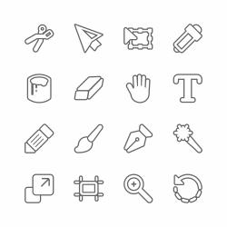 Design Tools Icons - Line Series