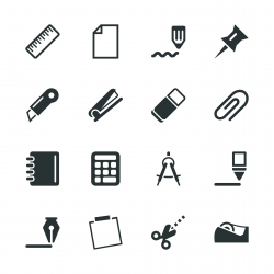 Office Silhouette Icons | Set 2