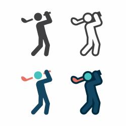 Golf Swing Icon