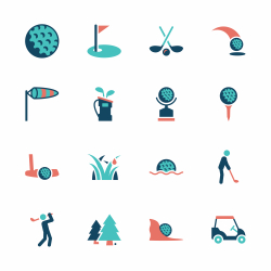 Golf Icons - Color Series