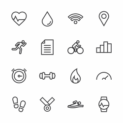 Fitness Tracker Icon - Line Series