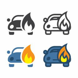 Car Fire Icon