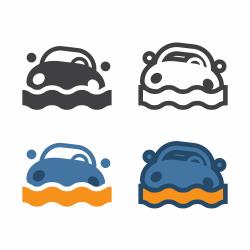 Car Flood Icon