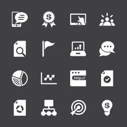 Marketing Icons - White Series