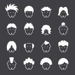 Hair Style Icons - White Series