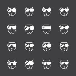 Sunglasses Icons - White Series