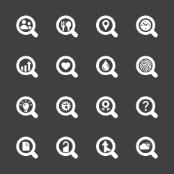 Search Engine Set 2 Icons - White Series