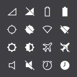 Devices Icons - White Series