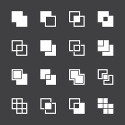 Square Shape Icons - White Series