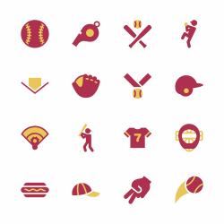 Baseball Icon - Color Series