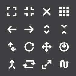 Navigation Icons - White Series