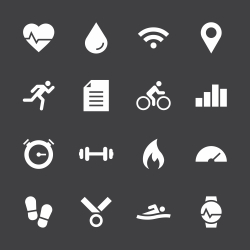 Fitness Tracker Icon - White Series
