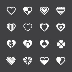 Heart Icon Set 3 - White Series