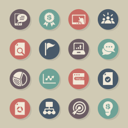 Marketing Icons - Color Circle Series