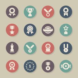Award Icons - Color Circle Series