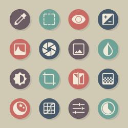 Photo Editor Icons - Color Circle Series