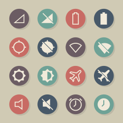 Devices Icons - Color Circle Series