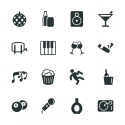 Pub and Bar Silhouette Icons